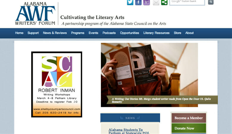 Interview with Alabama Writers' Forum: Making Nonprofit Website Grants Work for You