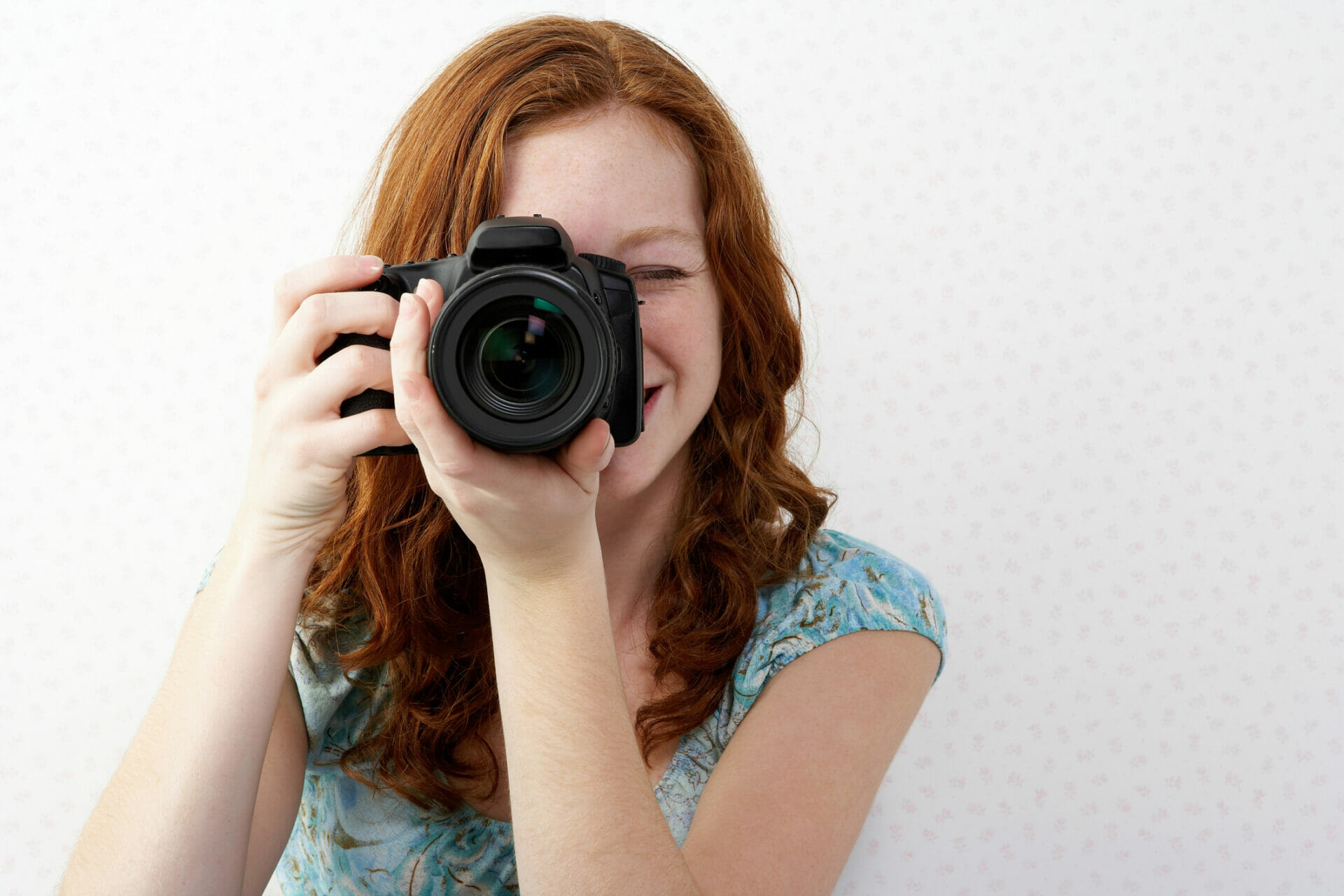 Teenage girl with camera