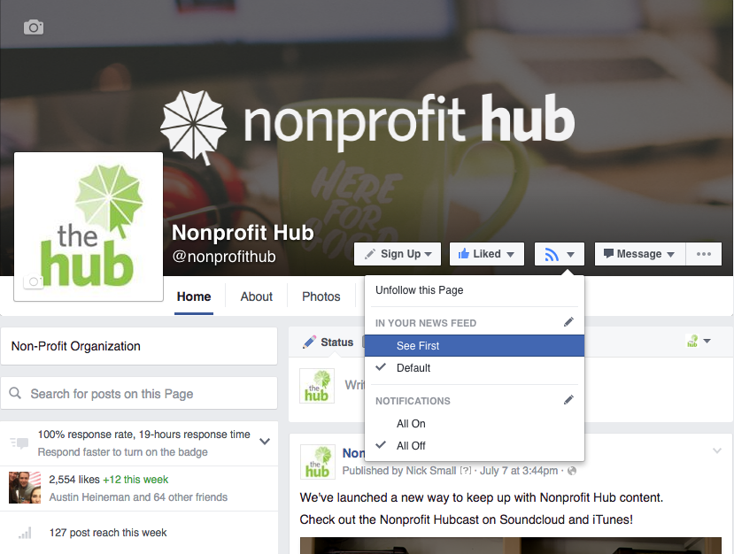 facebook visibility for nonprofits